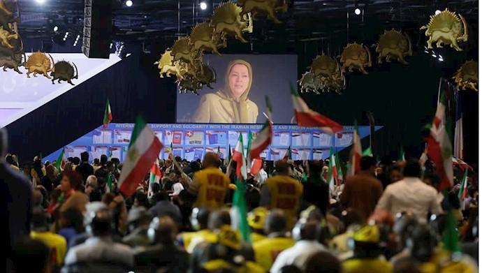 گردهمایی بزرگ مقاومت ایران در ویلپنت پاریس