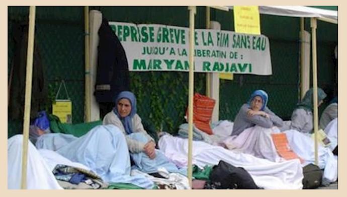 ۱۷ژوئن ۲۰۰۳ـ اعتصاب در اعتراض به دستگیری مریم رجوی