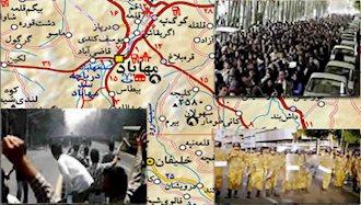 قیام مردم کردستان در اعتراض به جنایت فجیع دژخیمان رژیم آخوندی