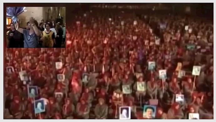 تحصن و روشن کردن شمع برای آزادی مریم رجوی