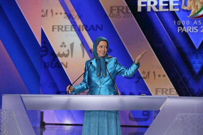 مریم رجوی رئیسجمهور برگزیده مقاومت ایران - گردهمایی بزرگ ایرانیان ۹تیر۹۷