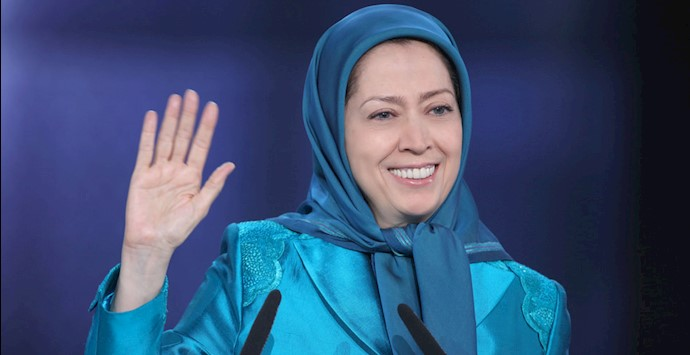 مریم رجوی در گردهمایی بزرگ ایرانیان در پاریس ۱۳۹۶
