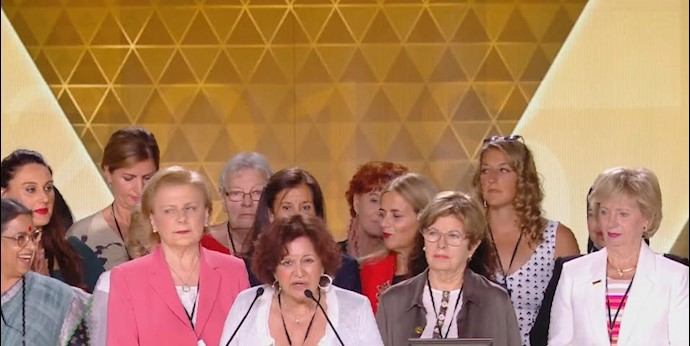 همایش ایرانیان - سخنرانی ماریا کاندیدا آلمیدا- پاریس ۲۰۱۸