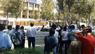 مشهد.تجمع اعتراضی غارتشدگان پردیسبان