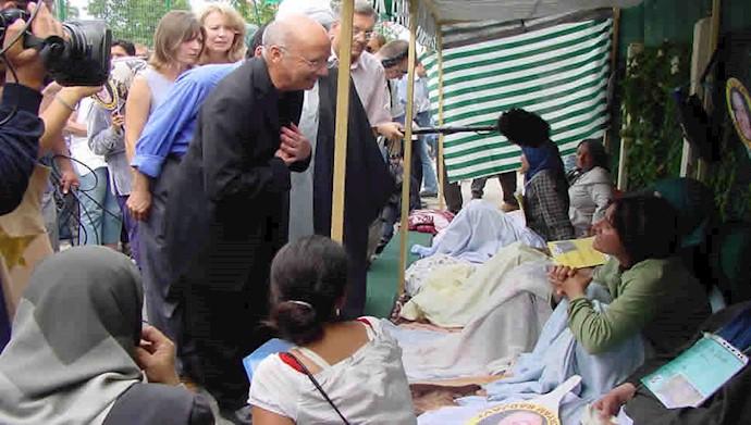 حمایت اسقف گایو از مریم رجوی