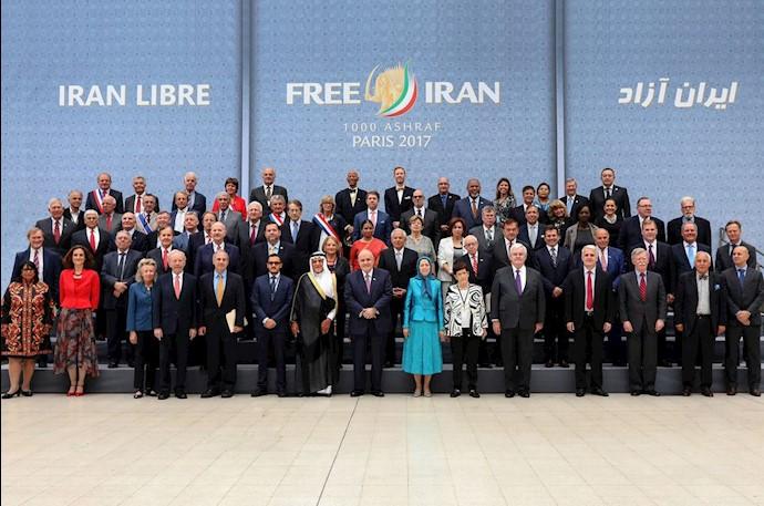 میهمانان گردهمایی بزرگ ایرانیان در پاریس ۱۳۹۶