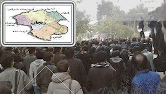 تظاهرات ۳۰هزار نفری مردم زنجان