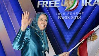 مریم رجوی در گردهمایی بزرگ مقاوت ایران در ویلئنت پاریس - تیر ۹۷