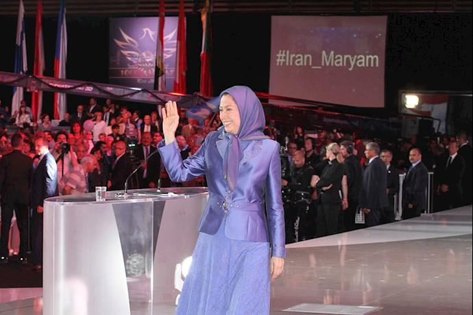 سخنرانی مریم رجوی در گردهمایی بزرگ مقاومت ایران ۱۳۹۴