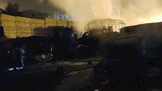 تصادف دلخراش اتوبوس با تانکر سوخت در سنندج