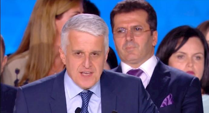 پاندلی مایکو - وزیر دولت و نخستوزیر پیشین آلبانی در همایش ایرانیان در پاریس