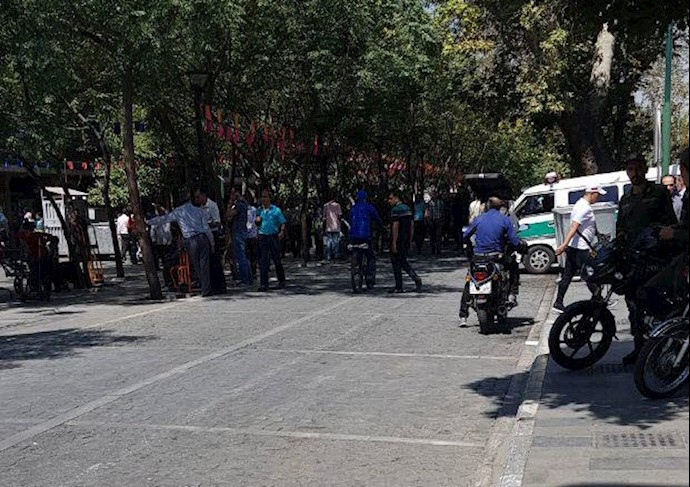 حضور نیروهای سرکوبگر در بازار تهران - دوشنبه ۸مرداد۹۷