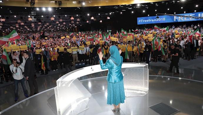 مریم رجوی در گردهمایی بزرگ ایرانیان در پاریس - تیر ۱۳۹۷