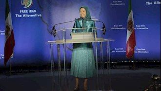مریم رجوی - کنفرانس مطبوعاتی قبل از مراسم گردهمایی ایرانیان در پاریس ۹تیر۹۷
