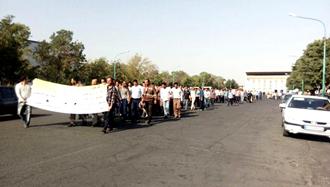 اعتصاب و تظاهرات کارگران راهآهن تبریز دوشنبه ۸مرداد ۹۷