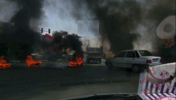شاپور جدید اصفهان در آتش و دود و درگیری - ۱۱مرداد ۹۷