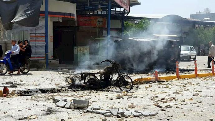 خیابانهای کازرون صحنه جنگ با مزدوران رژیم آخوندی - مرداد ۹۷