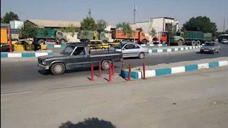 اعتصاب رانندگان کامیون در همدان