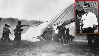 نخستین سانحه هوایی و سرنگون شدن هواپیما