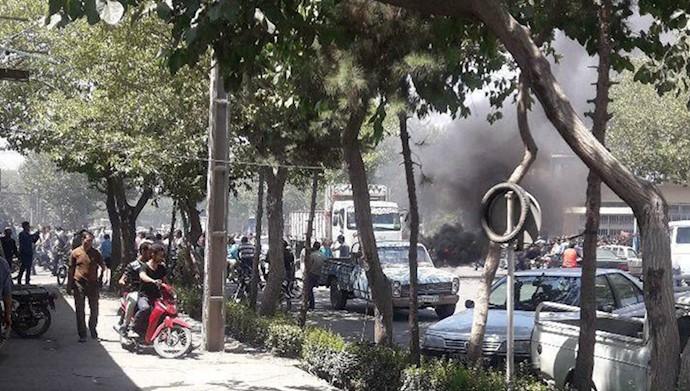 اصفهان - چهارراه مشیر درگیری با ماموران ۱۱مرداد ۹۷
