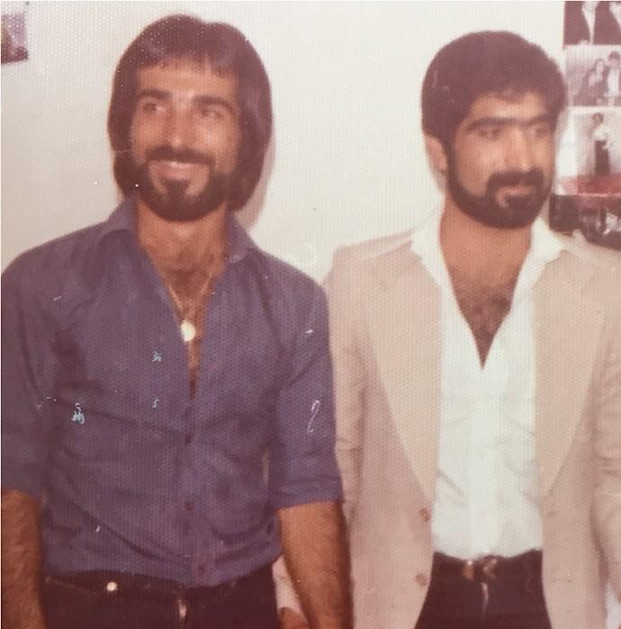 غلامرضا و برادر شهیدش حمیدرضا ترکپور.