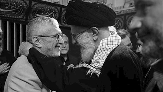 خامنه ای ولی فقیه ارتجاع و مداحش منصور ارضی