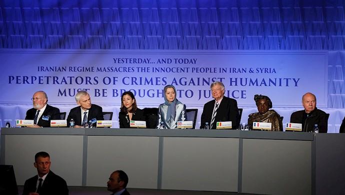 مریم رجوی در کنفرانس بینالمللی پاریس