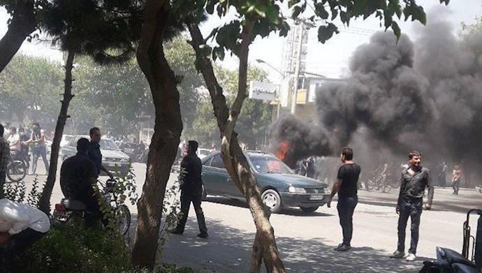 شاپور جدید اصفهان در دود و آتش ۱۱مرداد۹۷