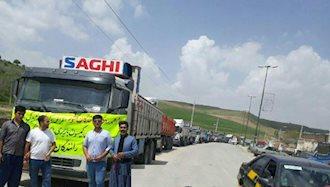 دیواندره.اعتصاب کامیونداران