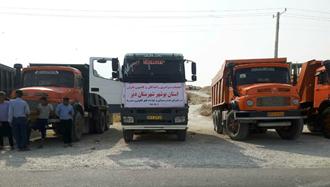 اعتصاب رانندگان کامیون - بندر دیر - ۱ مهر ۹۷