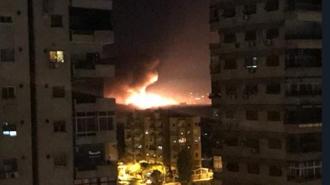 انفجارهای پی در پی در فرودگاه نظامی المزه