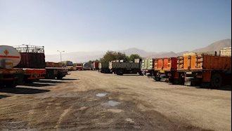 همدان . اعتصاب رانندگان کامیون - ۱مهر۹۷