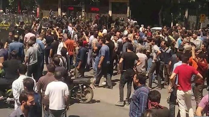 تظاهرات شورشی در شهرهای ایران