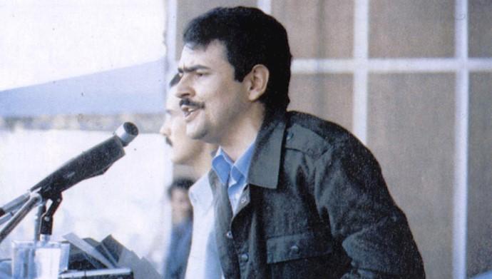 مسعود رجوی در میتینگ امجدیه تهران