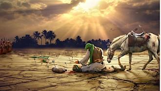 امام حسین بر سر پیکر مثلهشده عباس، سردار وفا و یاری