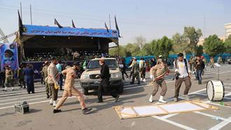حمله به مراسم رژه نيروهاي مسلح رژیم