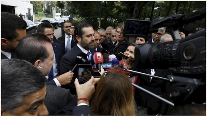 سعد الحریری در مقابل دادگاه لاهه ۱۱ سپتامبر۲۰۱۸