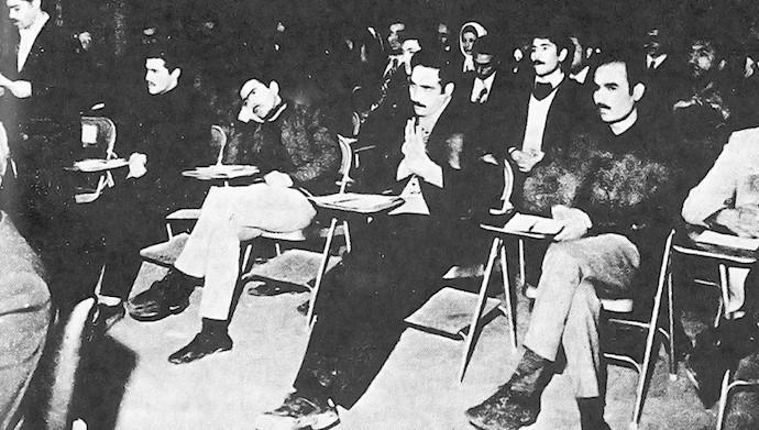 مسعود رجوی در بیدادگاه شاه