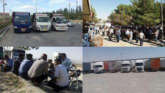 اعتصاب رانندگان کامیون در تهران، مهران، گرگان، سرخس، زرین شهر، اصفهان و سایر شهرها
