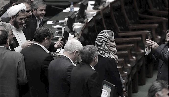 موگرینی در مجلس رژیم ایران