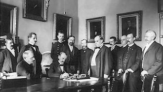 ۷ فوریه ۱۸۹۹ - ۱۸ بهمن: صلح بین اسپانیا و آمریکا