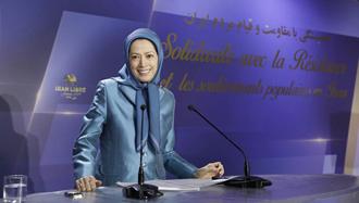 مریم رجوی رئیس جمهور برگزیده مقاومت ایران در مراسمی به مناسبت آغاز سال ۲۰۱۹
