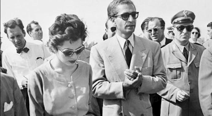محمدرضا شاه و همسرش ثریا، پس از شکست کودتای ۲۵مرداد ۳۲به بغداد و سپس رم گریختند