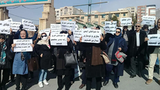 تجمع اعتراضی فرهنگیان شاغل و بازنشسته استان البرز