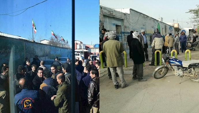 تجمع اعتراضی کارگران شهرداری در مریوان و شادگان