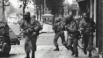 ۲۰بهمن ۱۳۵۷ - ۹ فوریه: حمله گارد جاویدان شاه به نیروی هوایی و شعلهورشدن قیام ضدسلطنتی