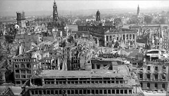 ۲۶ ژانویه ۱۹۴۴ - ۶ بهمن: درسدن آلمان پس از بمباران