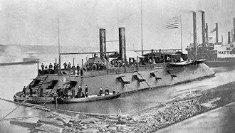 ۸ فوریه ۱۸۶۲ - ۱۹بهمن: نخستین زرهپوش دریایی جهان وارد نبرد شد