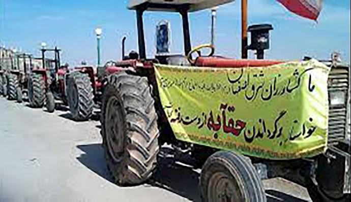 اعتراض کشاورزان ورزنه