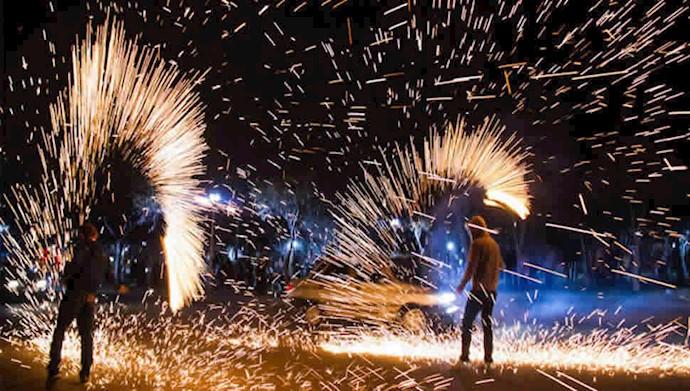 جشن ملی چهارشنبهسوری، سرخ و شاداب و آتشین